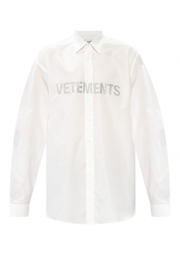 Vetements Oversize shirt with logo