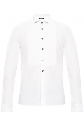 Shirt with branded buttons od Balmain