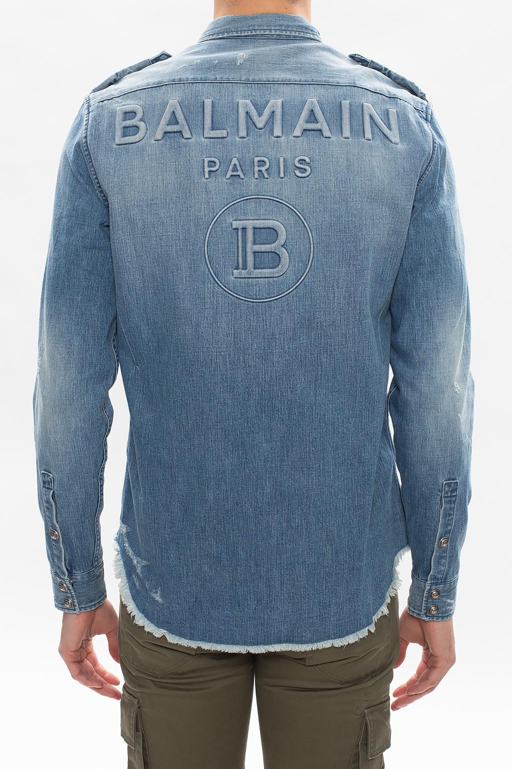 Balmain Time-worn denim shirt