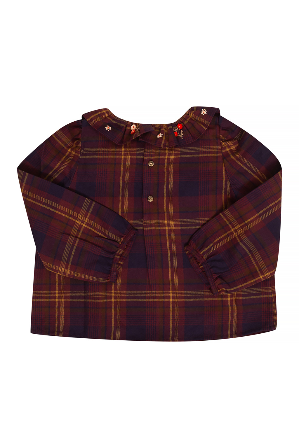 Bonpoint  Koszula ze wzorem w kratę