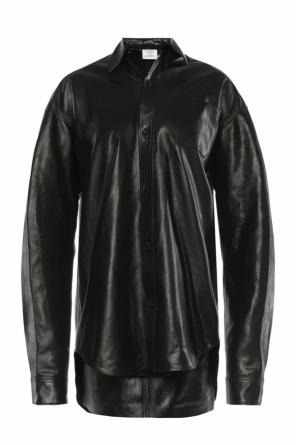 Oversize leather shirt od Vetements