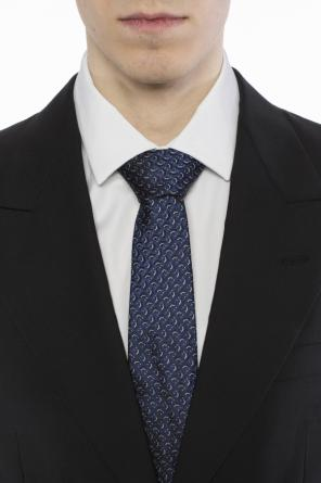 Patterned silk tie od Lanvin