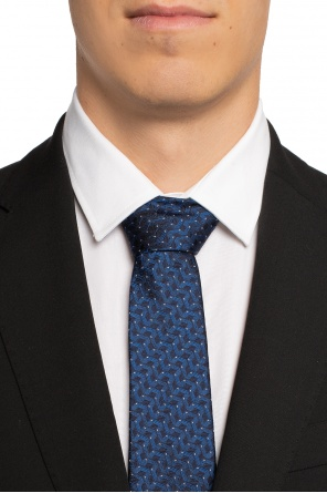 Embroidered silk tie od Lanvin