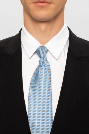 Patterned tie with logo od Salvatore Ferragamo