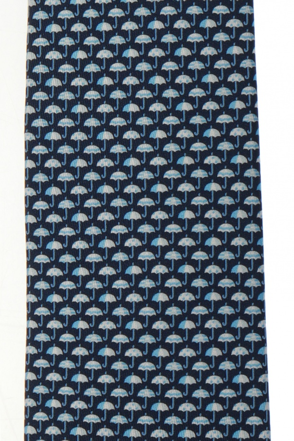 Jedwabny krawat od Salvatore Ferragamo