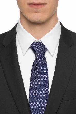 Logo-patterned tie od Salvatore Ferragamo