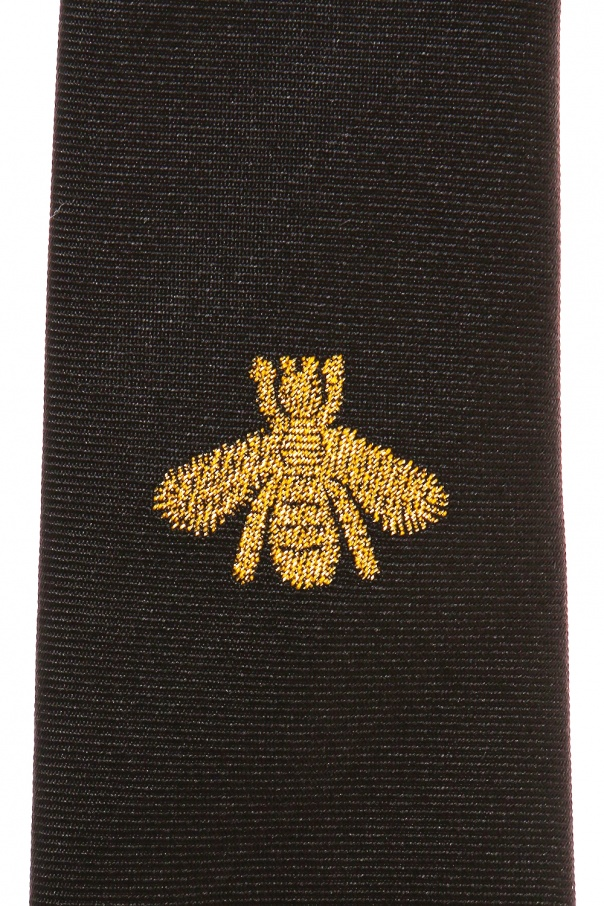 Bee motif tie od Gucci