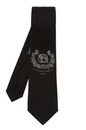 Embroidered pattern tie od Alexander McQueen