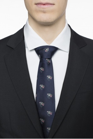 Patterned silk tie od Gucci