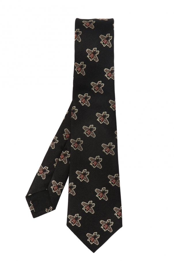 069b86902cab Bees pattern silk tie Gucci - Vitkac shop online