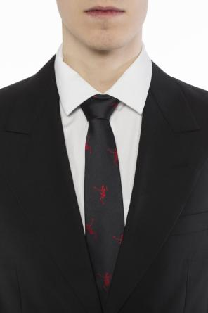Silk tie with skeletons od Alexander McQueen