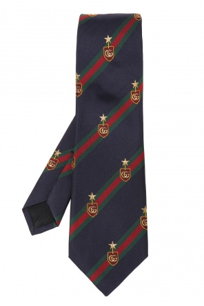 Tie with 'web' stripes pattern od Gucci