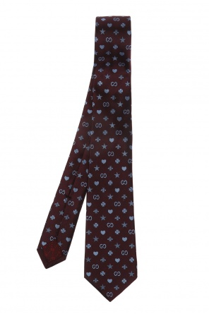 Silk tie with logo pattern od Gucci