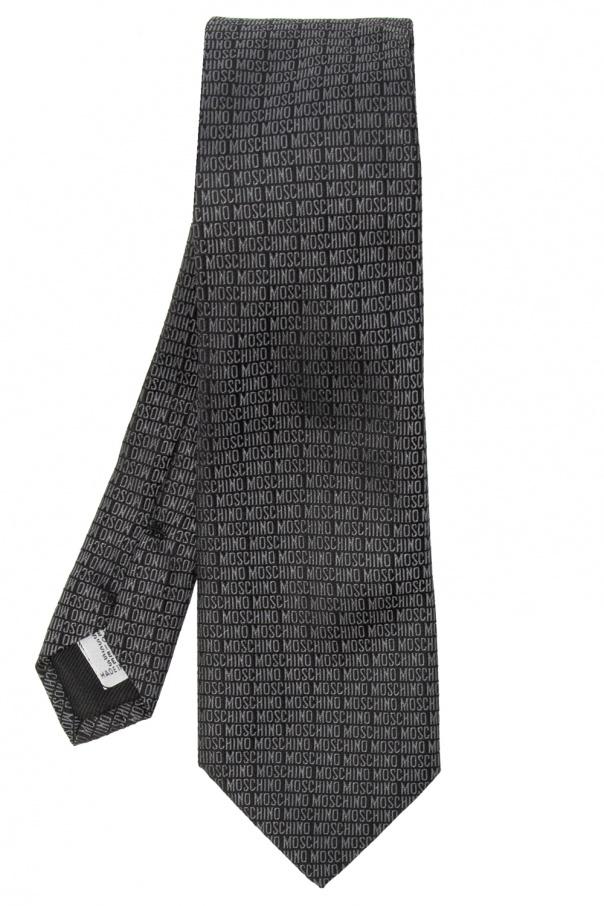 Moschino Jedwabny krawat z logo
