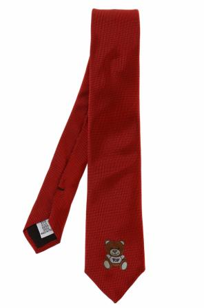 Teddy bear head tie od Moschino