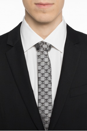 Logo-embroidered tie od Moschino