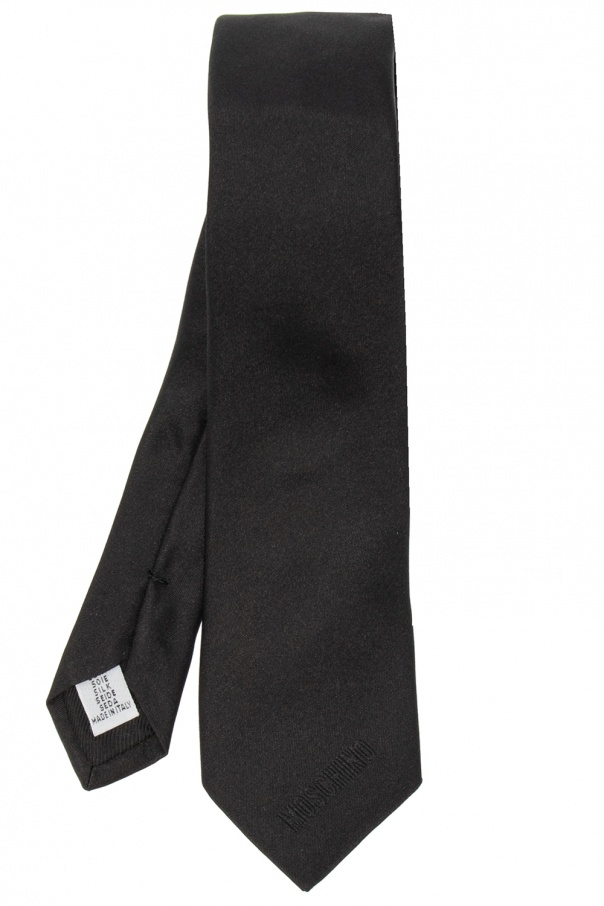 Moschino Silk tie with logo
