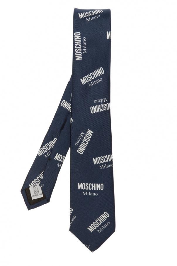 Moschino Silk tie with logo