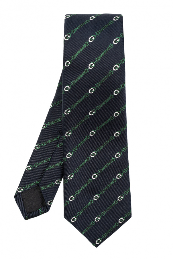 Gucci Jedwabny krawat z logo