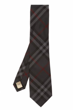 Checked silk tie od Burberry