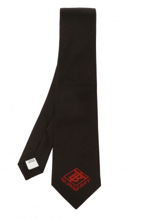 Embroidered silk tie od Burberry