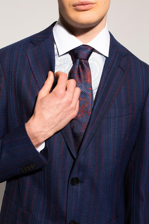 Etro Floral-motif silk tie
