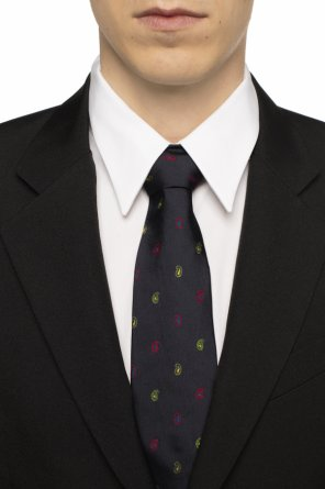 Embroidered silk tie od Etro