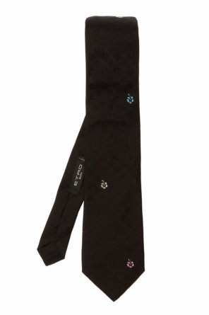Embroidered tie od Etro