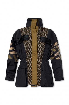 Jacket with logo od Versace