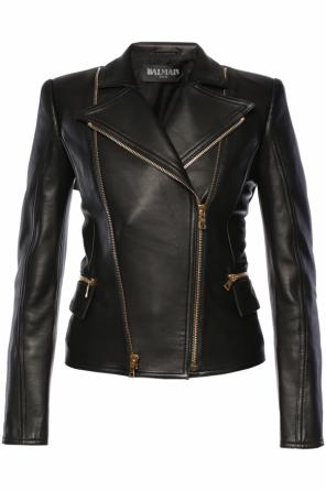 Leather jacket od Balmain