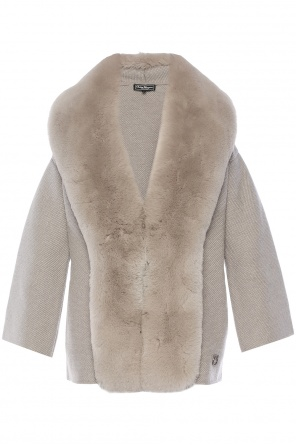 Fur collar sweater od Salvatore Ferragamo