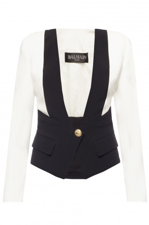 Two-coloured jacket od Balmain