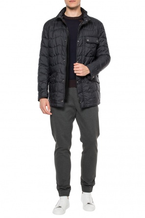 Quilted jacket with a band collar od Salvatore Ferragamo