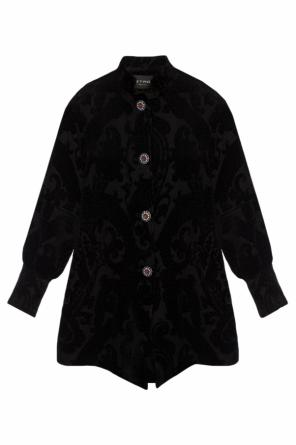 Coat with decorative buttons od Etro