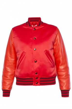 Bomber jacket with leather sleeves od Givenchy