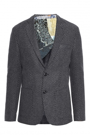 Double-vented patterned blazer od Etro