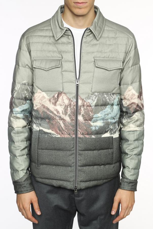 Printed quilted jacket od Etro
