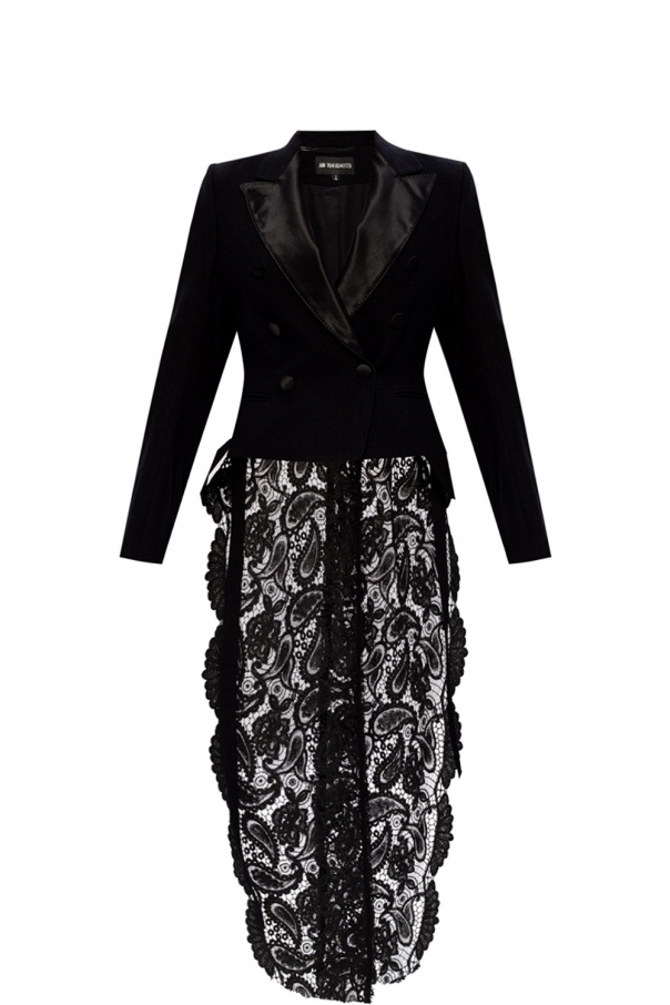 Ann Demeulemeester Blazer with lace trim