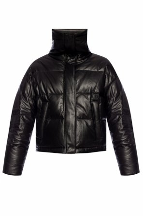 Leather down jacket od Yves Salomon