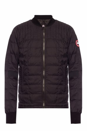 'dunham' down jacket with logo od Canada Goose