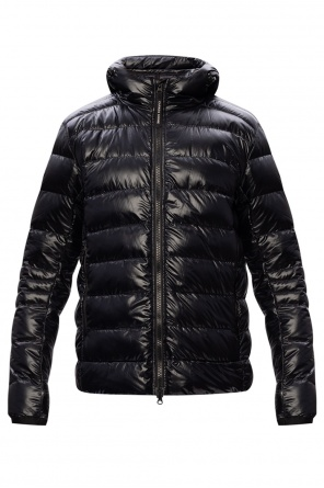 Quilted down jacket with logo od Canada Goose