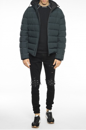 Hooded quilted jacket od MSGM