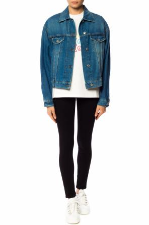 Denim jacket with logo od MSGM