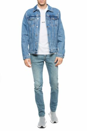 Denim jacket with embroidered logo od MSGM