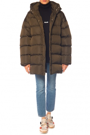 Quilted jacket with detachable hood od MSGM