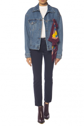 Denim jacket with shawl od MSGM