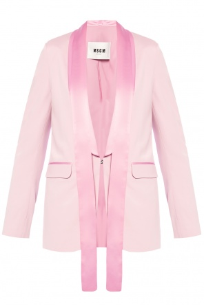Blazer with shawl lapels od MSGM