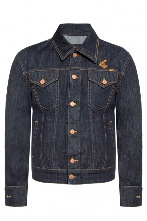 Denim jacket with a logo od Vivienne Westwood