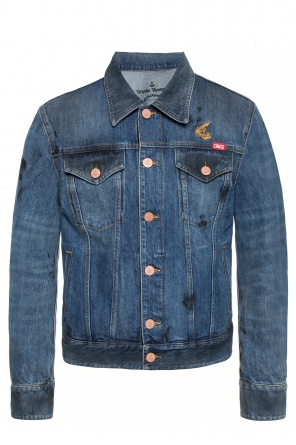 Denim jacket with logo od Vivienne Westwood