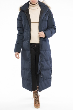 Long hooded quilted jacket od Canada Goose